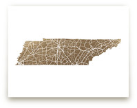 Tennessee Map Foil-Pressed Wall Art