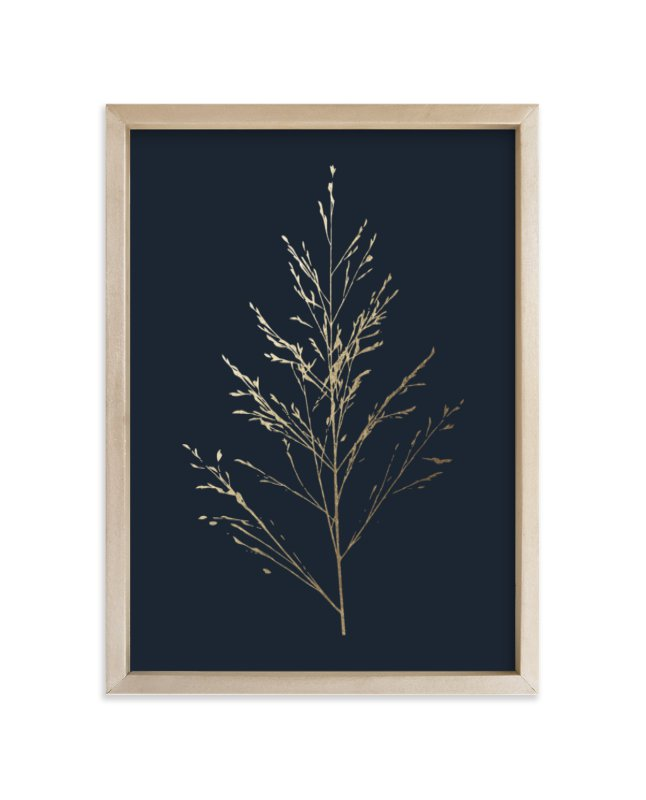 """""""Wild grass"""" - Foil-pressed Art Print by LemonBirch Design in beautiful frame options and a variety of sizes."""