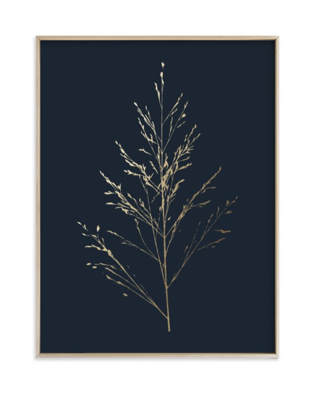 """Wild grass"" - [non-custom] Foil-pressed Art Print by LemonBirch Design in beautiful frame options and a variety of sizes."