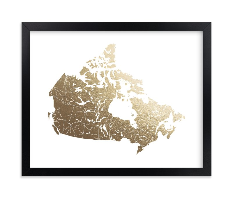 """""""Canada Map"""" - [non-custom] Foil-pressed Art Print by Jorey Hurley in beautiful frame options and a variety of sizes."""
