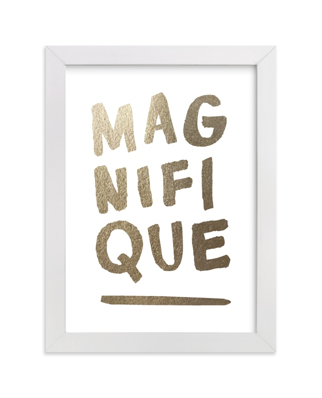 """""""Magnifique Foil"""" - [non-custom] Foil-pressed Art Print by Marabou Design in beautiful frame options and a variety of sizes."""