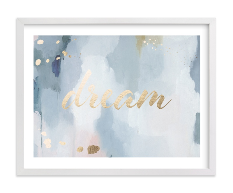 """""""Dreaming"""" - [non-custom] Foil-pressed Art Print by Nicoletta Savod in beautiful frame options and a variety of sizes."""