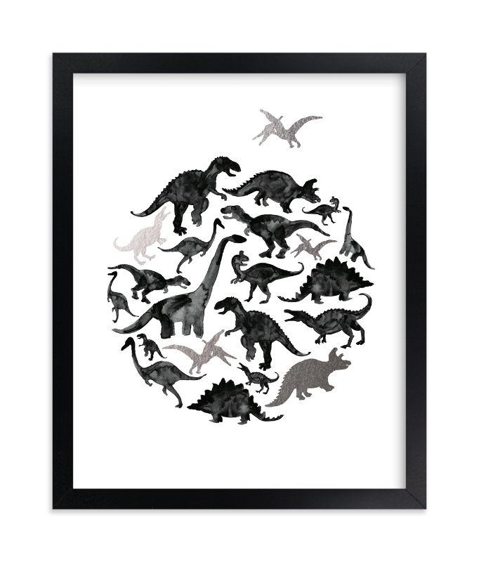 """""""Jurassic Circle"""" - [non-custom] Foil-pressed Art Print by Susanne Kasielke in beautiful frame options and a variety of sizes."""
