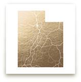 Utah Map Foil-Pressed Wall Art