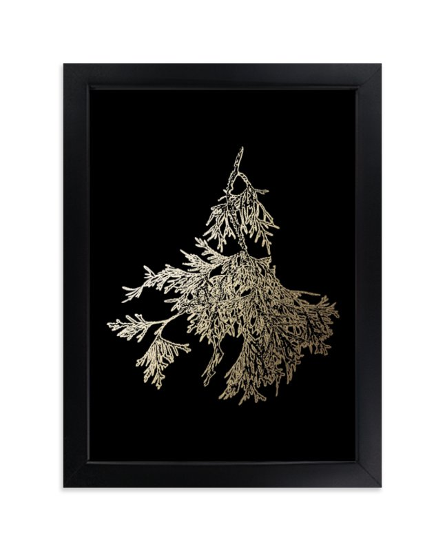 """Northern White Cedar"" - Foil-pressed Art Print by LemonBirch Design in beautiful frame options and a variety of sizes."