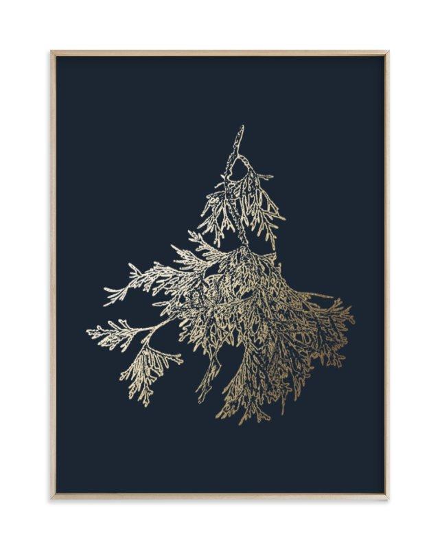 Northern White Cedar Foil-Pressed Art Print