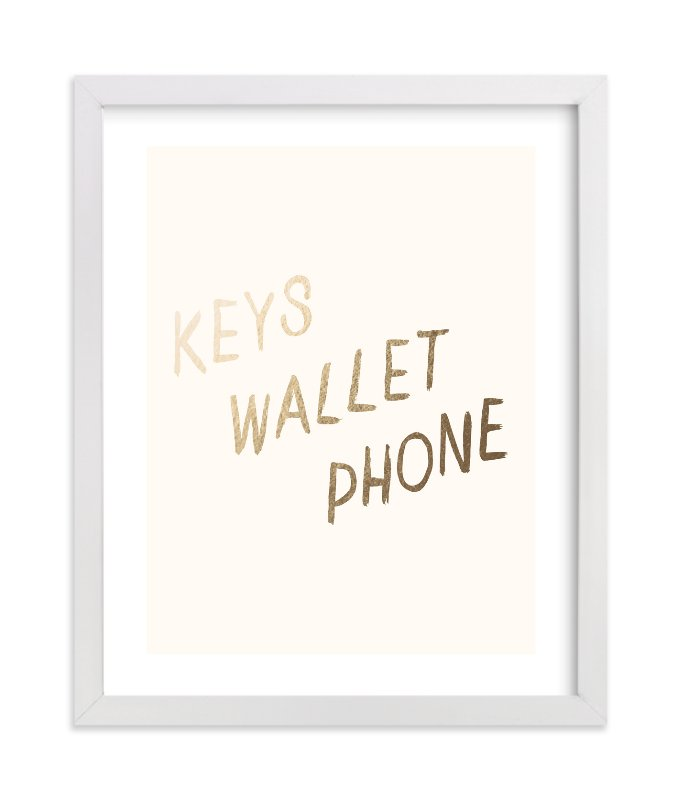 """""""A Helpful Reminder"""" - Foil-pressed Art Print by annie clark in beautiful frame options and a variety of sizes."""