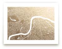 London Map Foil-Pressed Wall Art