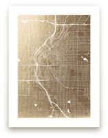 Denver Map Foil-Pressed Wall Art