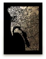San Diego Map by Alex Elko Design
