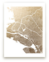 East Bay Map Foil-Pressed Wall Art