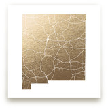 New Mexico Map Foil-Pressed Wall Art