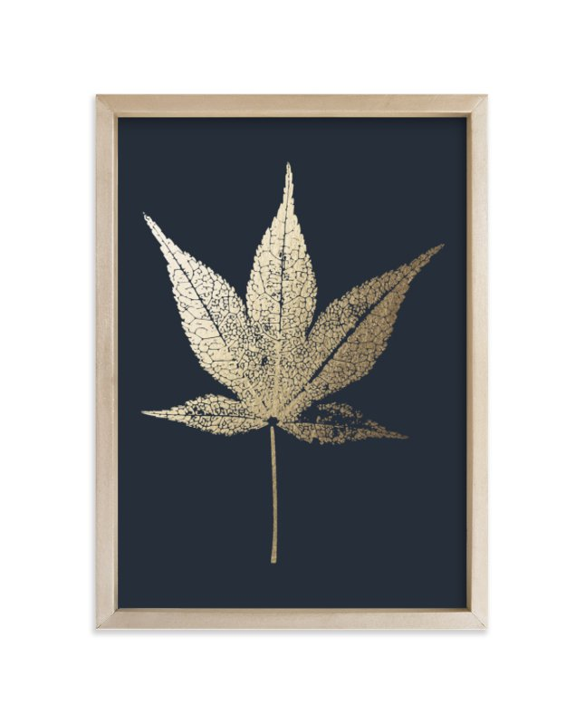 """Japanese Maple"" - Foil-pressed Art Print by LemonBirch Design in beautiful frame options and a variety of sizes."