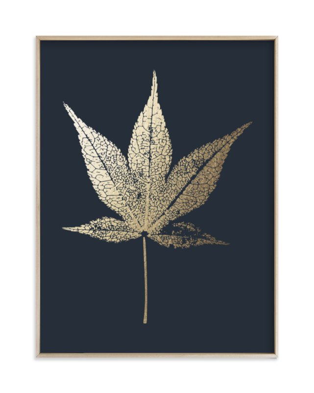 """""""Japanese Maple"""" - [non-custom] Foil-pressed Art Print by LemonBirch Design in beautiful frame options and a variety of sizes."""