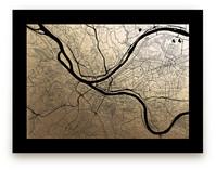 Pittsburgh Map by Alex Elko Design
