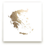 Greece Map by Jorey Hurley