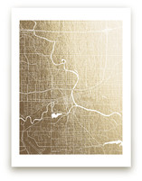 Des Moines Map by Griffinbell Paper Co.
