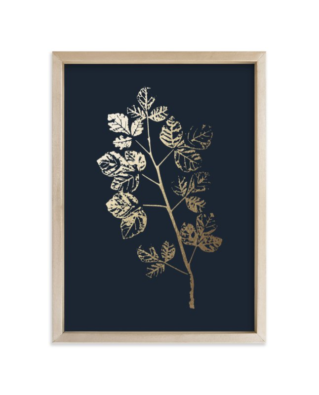 """""""Fragrant Sumac Branch"""" - Foil-pressed Art Print by LemonBirch Design in beautiful frame options and a variety of sizes."""