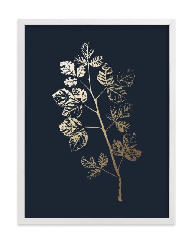 Fragrant Sumac Branch Foil-Pressed Art Print