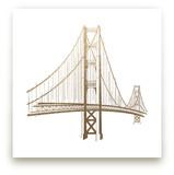Golden Gate Bridge Foil-Pressed Wall Art