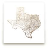 Texas Map Foil-Pressed Wall Art