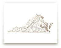 Virginia Map Foil-Pressed Wall Art