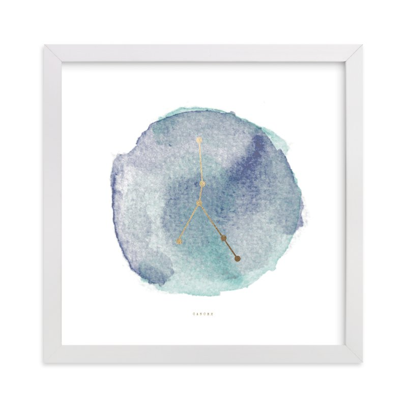 """""""Cancer"""" - [non-custom] Foil-pressed Art Print by Annie Clark in beautiful frame options and a variety of sizes."""