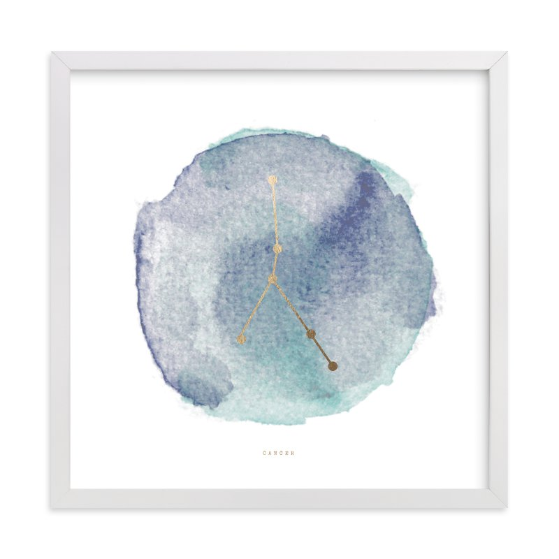 """Cancer"" - Foil-pressed Art Print by annie clark in beautiful frame options and a variety of sizes."