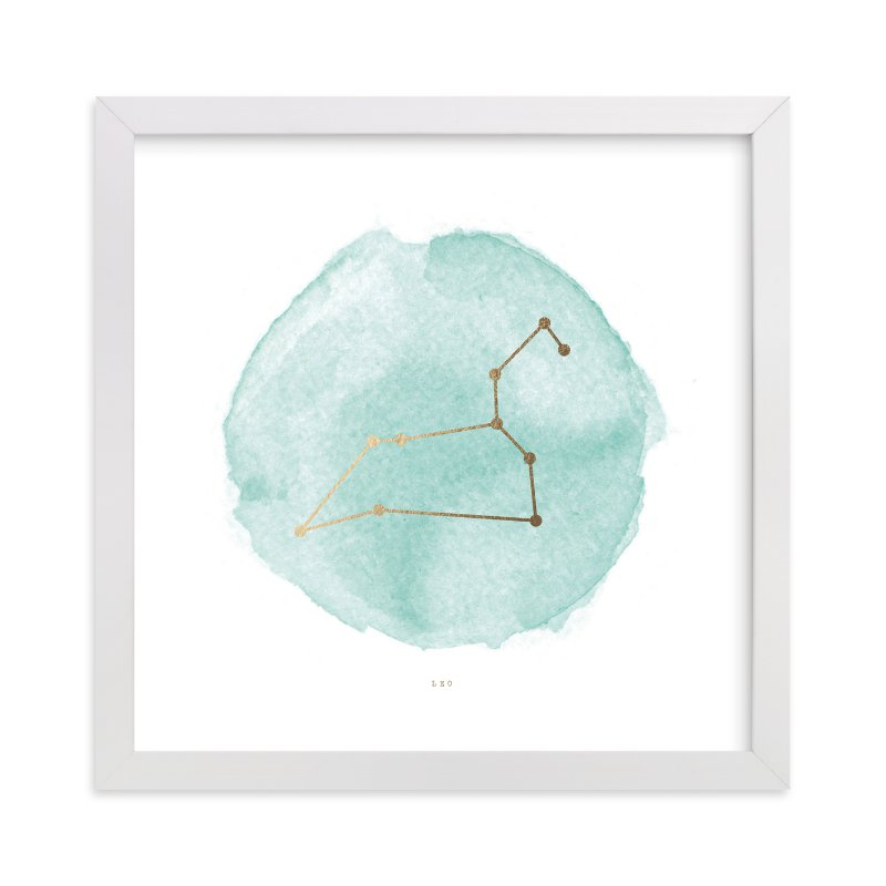 """Leo"" - [non-custom] Foil-pressed Art Print by Annie Clark in beautiful frame options and a variety of sizes."