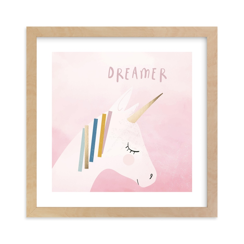 """""""Sweet dreamer"""" - [non-custom] Foil-pressed Art Print by Teju Reval in beautiful frame options and a variety of sizes."""