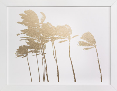 Palm Trees in the Wind Foil-Pressed Art Print
