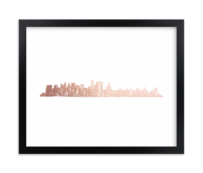 """""""NYC Skyline """" - [non-custom] Foil-pressed Art Print by Phrosne Ras in beautiful frame options and a variety of sizes."""