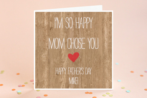 Mom Chose You Father's Day Greeting Cards
