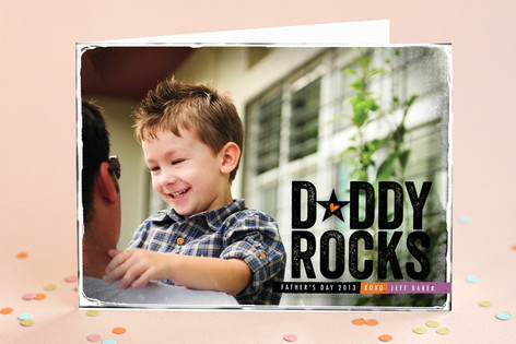 Grunge Rock Star Father's Day Greeting Cards