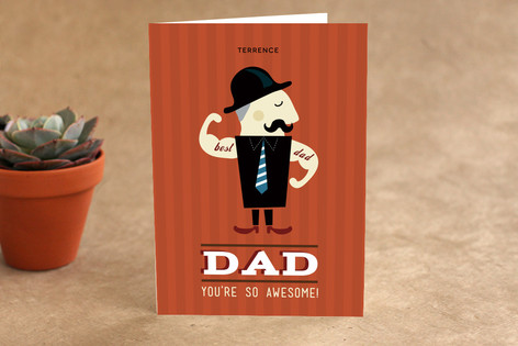 Awesome Papa Fathers Day Greeting Cards By Chocom Minted