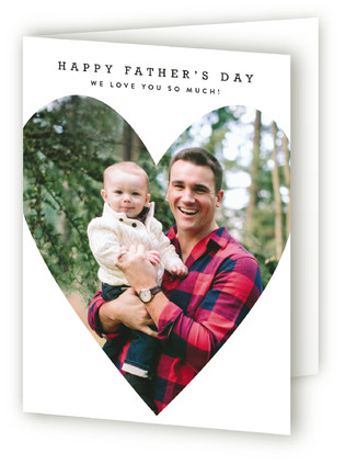 Simple Heart Message Father's Day Greeting Cards