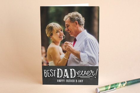 Chalkboard Sketched Father's Day Greeting Cards