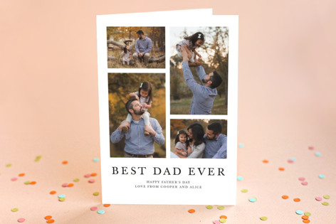 Photo Collage Father's Day Greeting Cards