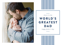 Classic Stripes Father's Day Greeting Cards