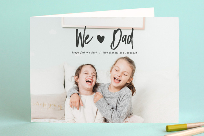 """""""Hearty"""" - Father's Day Greeting Cards in Coal by Creo Study."""