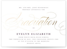 This is a purple foil stamped graduation card by Lauren Chism called Formal with foil-pressed printing on signature in petite.