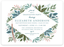 This is a blue foil stamped graduation card by Paper Sun Studio called Flourish with foil-pressed printing on signature in petite.