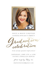 Modern Photo Frame Foil-Pressed Graduation Announcements By Hooray Creative