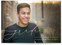This is a white graduation announcement invitation by Olivia Raufman called Splendor with foil-pressed printing on smooth signature in standard.