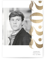 This is a grey graduation announcement invitation by Ally Madison called Textured Year with foil-pressed printing on smooth signature in standard.
