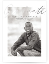 This is a grey graduation announcement invitation by Christie Elise called Silver Formal with foil-pressed printing on smooth signature in standard.