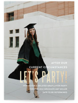This is a white graduation announcement invitation by Susan Brown called Pomp and Current Circumstances with foil-pressed printing on signature in standard.