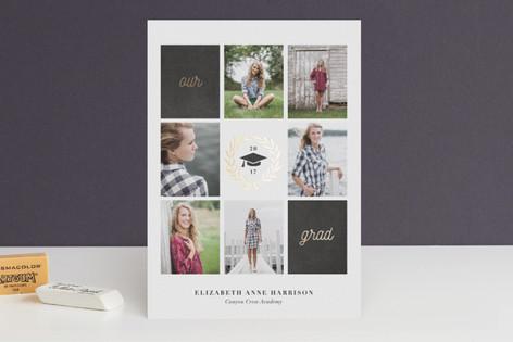 Laurel Foil-Pressed Graduation Announcements
