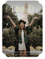 This is a white graduation announcement invitation by Olivia Goree called I did it! with foil-pressed printing on smooth signature in standard.