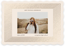 This is a beige foil pressed graduation card by Teju Reval called Gilded moments with foil-pressed printing on signature in standard.